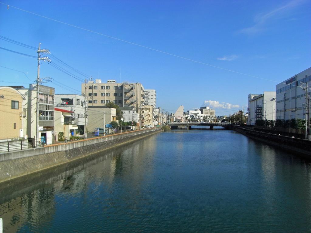 巴川 稚児橋からの眺め
