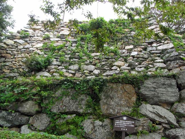 浜松城の石垣 野面積み
