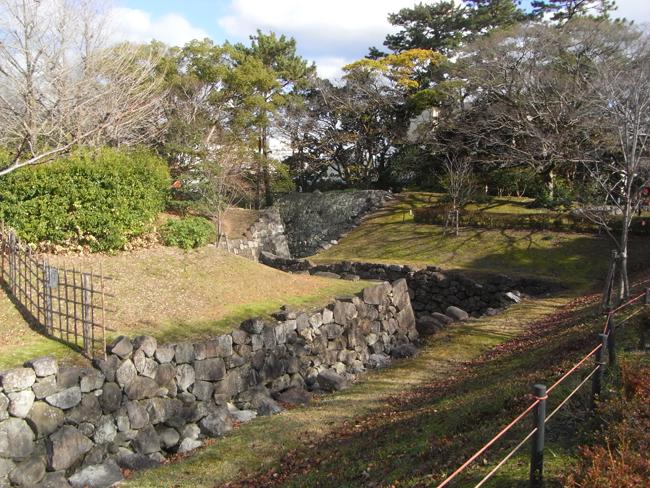 駿府城 二の丸水路