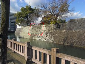 駿府城 二の丸堀 二の丸御門跡