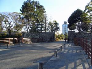 駿府城 二の丸堀 北御門